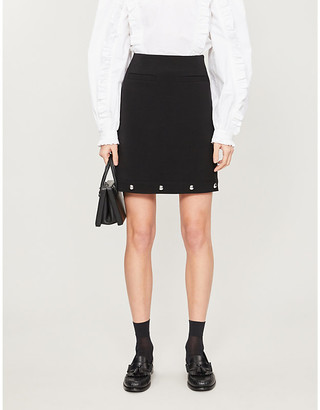 Claudie Pierlot Songe embellished woven skirt
