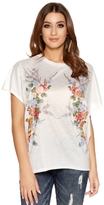 Quiz White Floral Embellished Tail Top