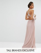 TFNC Tall Wedding Embellished Maxi Dress With Jewel Strappy Back