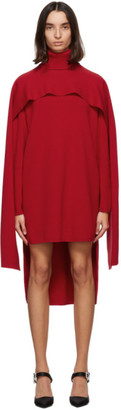 Givenchy Red Cape Dress