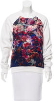 MSGM Floral Print Pullover Sweatshirt