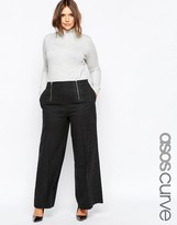Asos Extreme Flare Pant With Zipper Detail