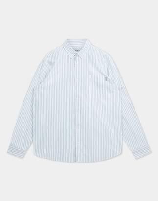 Carhartt Wip WIP - Long Sleeve Striped Simon Shirt Blue & White