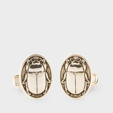 Paul Smith Men's Gold Beetle Plaque Cufflinks