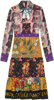 Gucci Patchwork print viscose dress - women - Viscose - 40