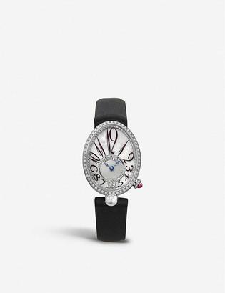 Breguet 8918BB/58/964/D00D Reine de Naples 18ct white-gold, mother-of-pearl and diamond watch