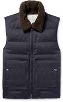 Brunello Cucinelli - Shearling-trimmed Quilted Twill Down Gilet