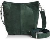 Halston Ali Medium Suede Bucket Bag