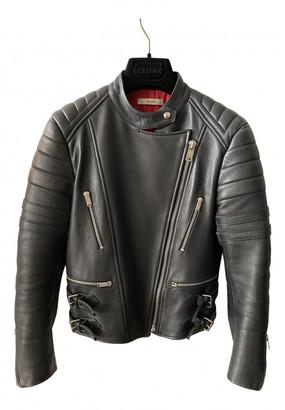 Celine Blue Leather Jackets