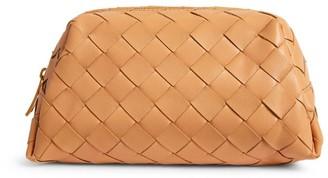 Bottega Veneta Leather Intrecciato Cosmetic Case