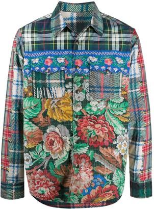 Pierre Louis Mascia Patchwork Floral Shirt Jacket