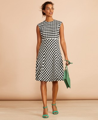 Brooks Brothers Gingham Boucle Dress