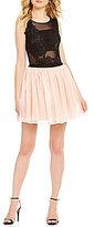 Jodi Kristopher Lace Bodysuit Two-Piece Dress