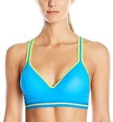 Flex Women's Microfiber Sports Bra with Athletic Mesh Racerback
