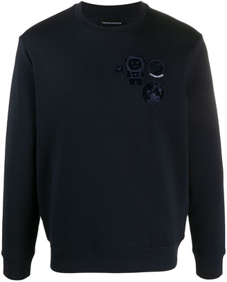 Emporio Armani Embroidered Badge Jumper