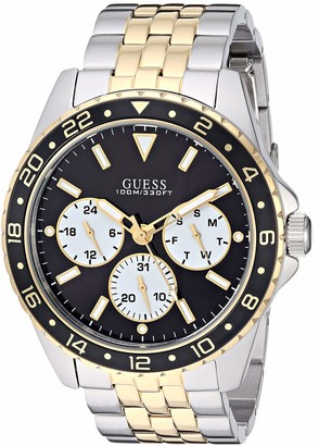 GUESS Men's Analog Watch with Stainless Steel Strap Two Tone 22 (Model: U1107G6)