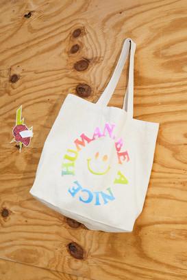 Be A Nice Human Puff Print Tote Bag