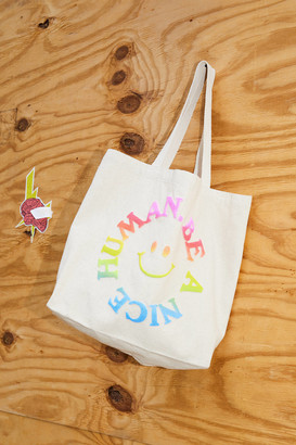 Urban Outfitters Be A Nice Human Puff Print Tote Bag