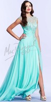 Mac Duggal Ruched Empire Waist Prom Dress