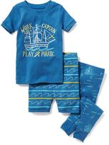 Old Navy 3-Piece Pirate-Graphic Sleep Set for Toddler & Baby