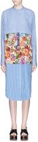 Ports Convertible floral panel stripe shirt dress