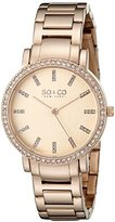 SO&CO New York Women's 5060.2 Madison Quartz Crystal Accent Stainless Steel 16K Rose-Tone Link Bracelet Watch