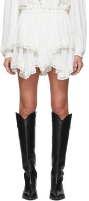 Isabel Marant White Leocadia Shorts
