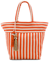 JADEtribe Valerie Pastel Puka Tote Bag in Orange.
