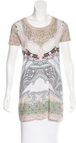 Etro Abstract Print Short Sleeve Top