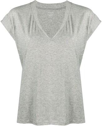 Frame cap sleeves T-shirt