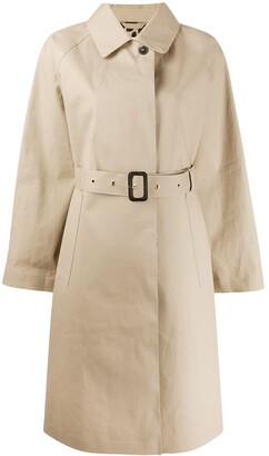 MACKINTOSH ABERDEEN Fawn x Leopard Oversized Single Breasted Trench Coat   LR-1003