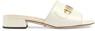 Gucci Leather Sandals in Dusty White   FWRD