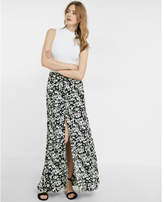 Express high waisted floral print button front maxi skirt