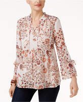 Style&Co. Style & Co Petite Floral-Print Peasant Blouse, Only at Macy's