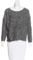 Maje Oversize Leather-Trimmed Sweater