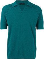 Roberto Collina polo shirt - men - Cotton/Polyamide - 46
