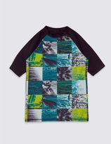 Marks and Spencer Photo Surf Print Rash Vest (3-14 Years)