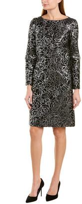 Michael Kors Silk-Blend Shift Dress