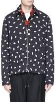 McQ 'Aojama' leaf print crepe jacket