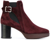 Tod's buckled ankle boots - women - Leather/Suede/rubber - 36