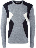 Neil Barrett geometric colour block sweater