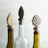 Crate & Barrel Leaf Bottle Stoppers, Set of 3