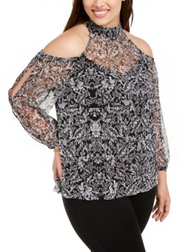 INC International Concepts Inc Plus Size Cold-Shoulder Top, Created for Macy's