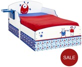 Ladybird Toddler Bed With Storage - Alien Graphics