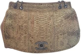 Chanel Beige Python Handbags