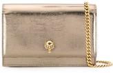 Alexander McQueen metallic Skull crossbody bag