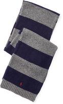 Ralph Lauren Striped Wool-Cashmere Scarf