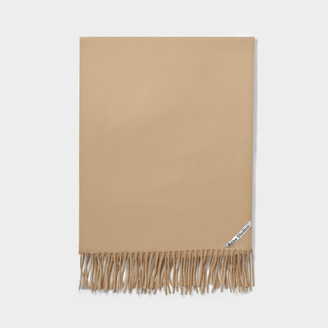 Acne Studios Canada Cash New Scarf In Camel Brown Cashmere