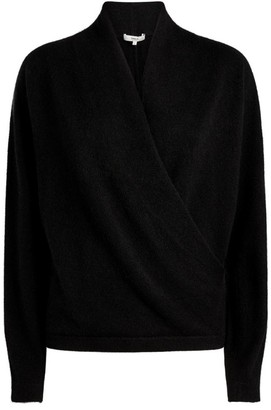 Vince Cashmere Wrap-Front Sweater