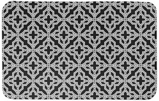 Designs Direct Creative Group Black Tile 34x21 Bath Mat
